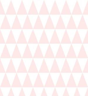 Papel pintado triángulos rosa y blanco estilo nórdico Nordem Mountains 677336