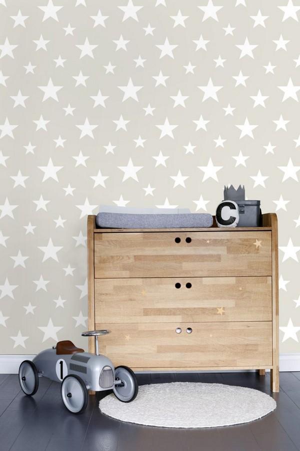 Papel pintado estrellas infantiles Lucky Planet 677340