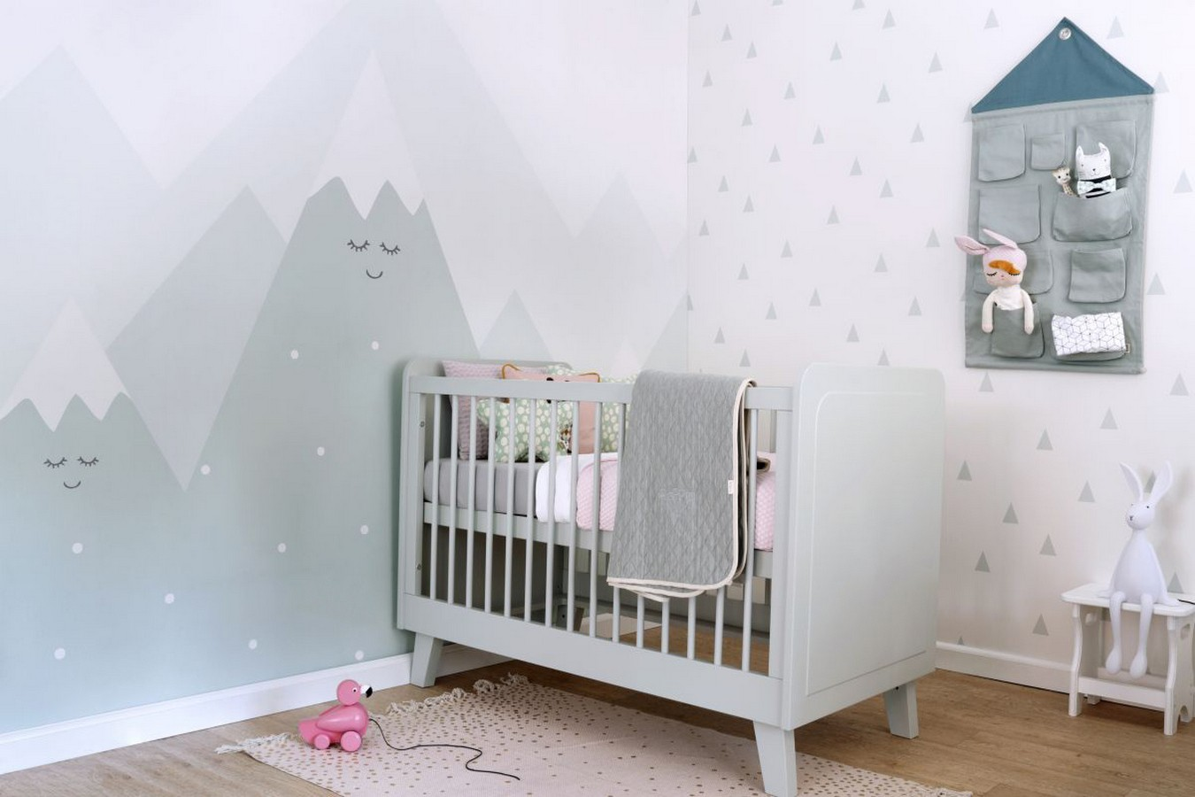 Papel pintado triángulos infantiles estilo nórdico Nordic Fantasy 677342