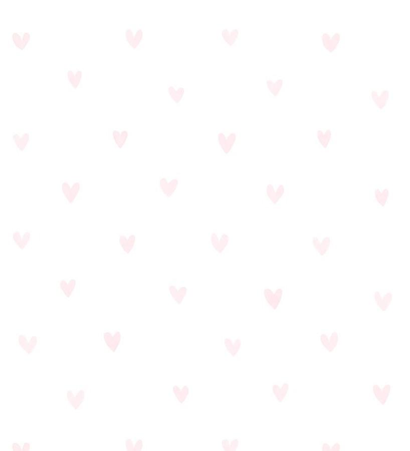 Papel pintado corazones rosa claro fondo blanco Magic Hearts 677353