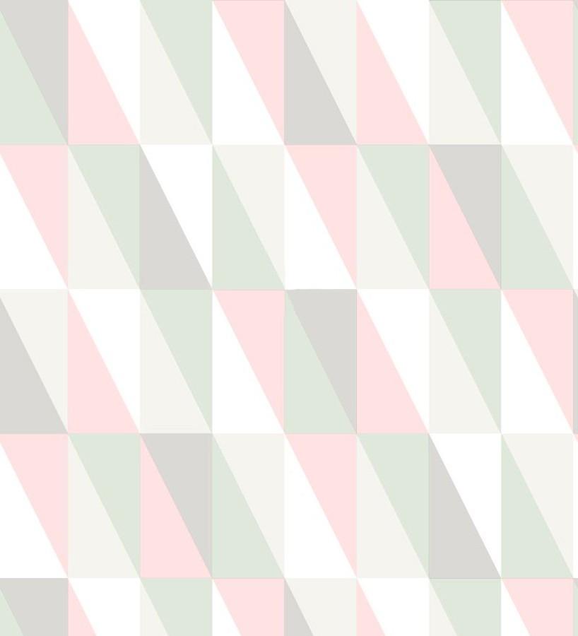 Papel pintado geométrico triángulos de colores Metrix Evolution 677357