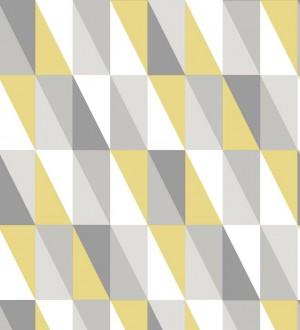 Papel pintado geométrico triángulos de colores Metrix Evolution 677359