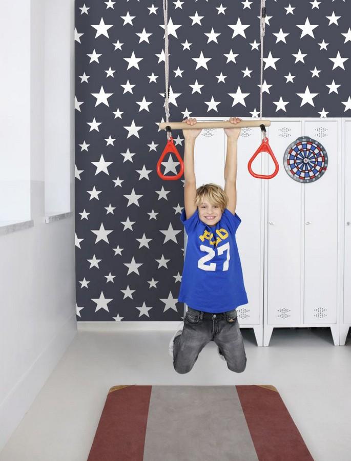 Papel pintado estrellas infantiles Lucky Planet 677371