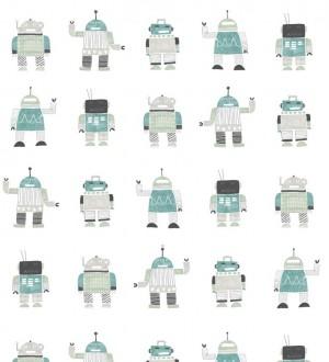 Papel pintado robots infantiles Strange Friends 677376
