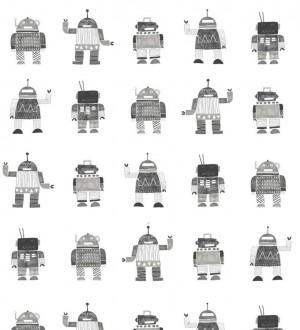 Papel pintado robots infantiles Strange Friends 677377
