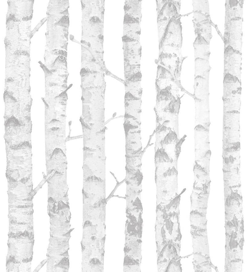 Papel pintado troncos de árboles estilo nórdico Baltic Hills 677382