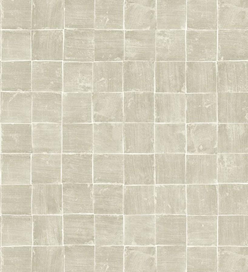 Papel pintado mosaico de azulejos pequeños desgastados Nordic Mosaic 677414