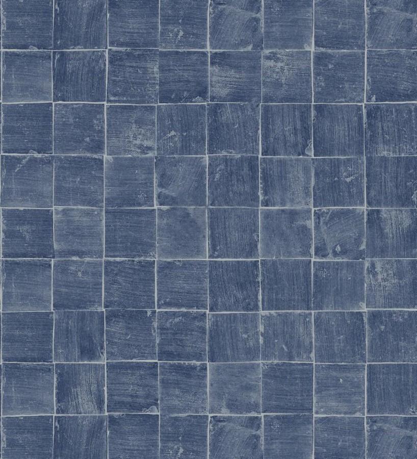 Papel pintado mosaico de azulejos pequeños desgastados Nordic Mosaic 677417