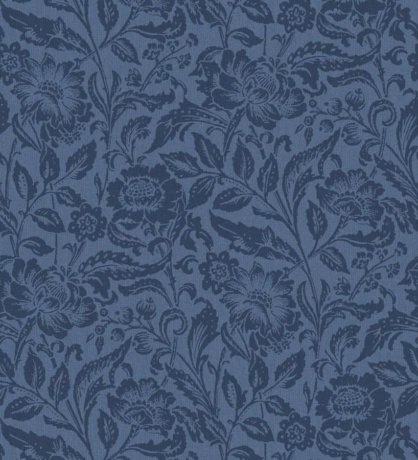 Papel pintado flores tonos azules Kendra Gardens 677421