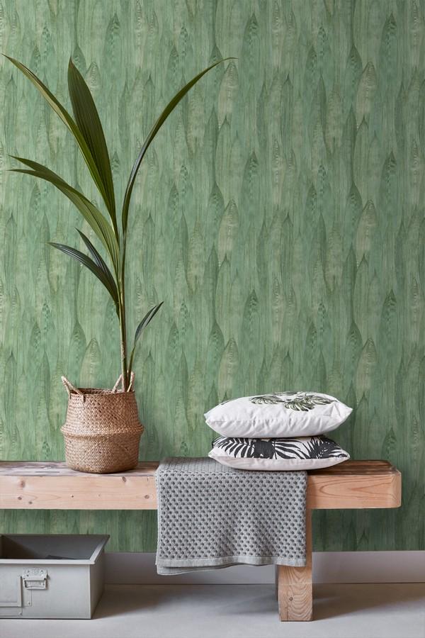 Papel pintado hojas de plátano estilo tropical Indira Jungle 679029