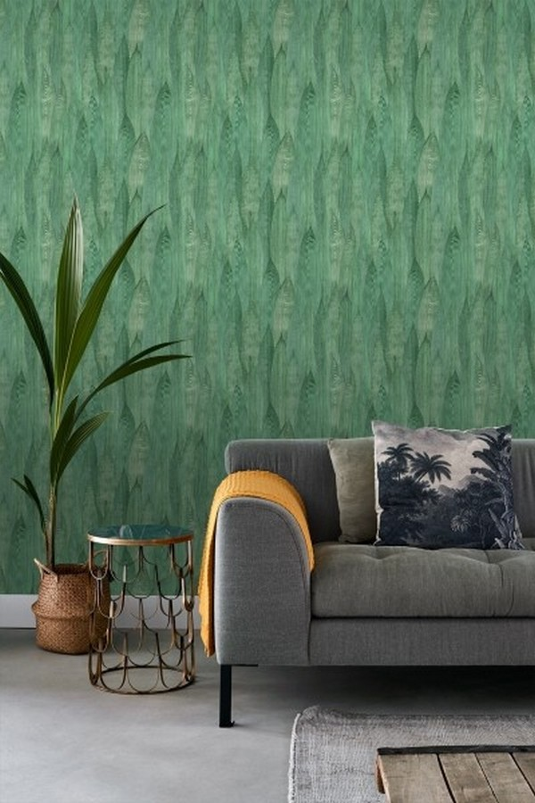 Papel pintado hojas de plátano estilo tropical Indira Jungle 679030