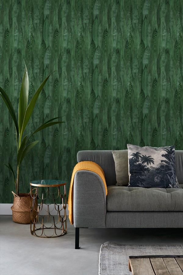 Papel pintado hojas de plátano estilo tropical Indira Jungle 679031