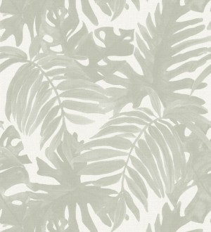 Papel pintado hojas de palmera estilo tropical Oasis Garden 679032