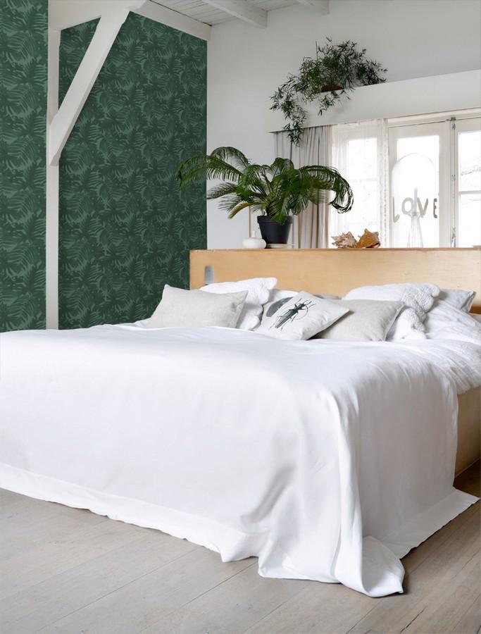 Papel pintado hojas de palmera estilo tropical Oasis Garden 679034