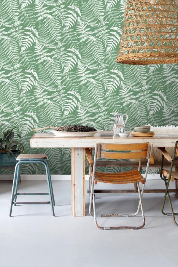 Papel pintado hojas de bosque tropical Boreal Forest 679042