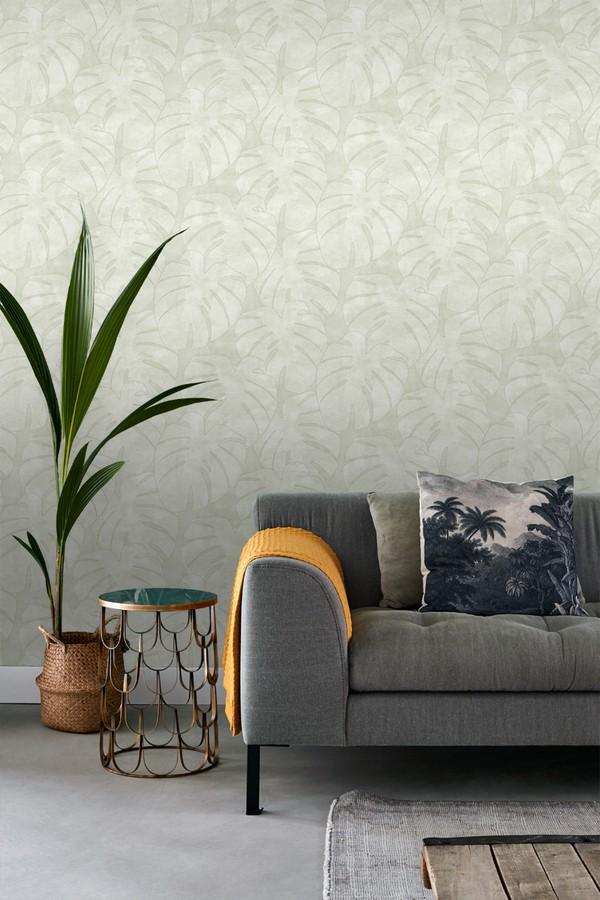 Papel pintado hojas tropicales Bora Bora 679045