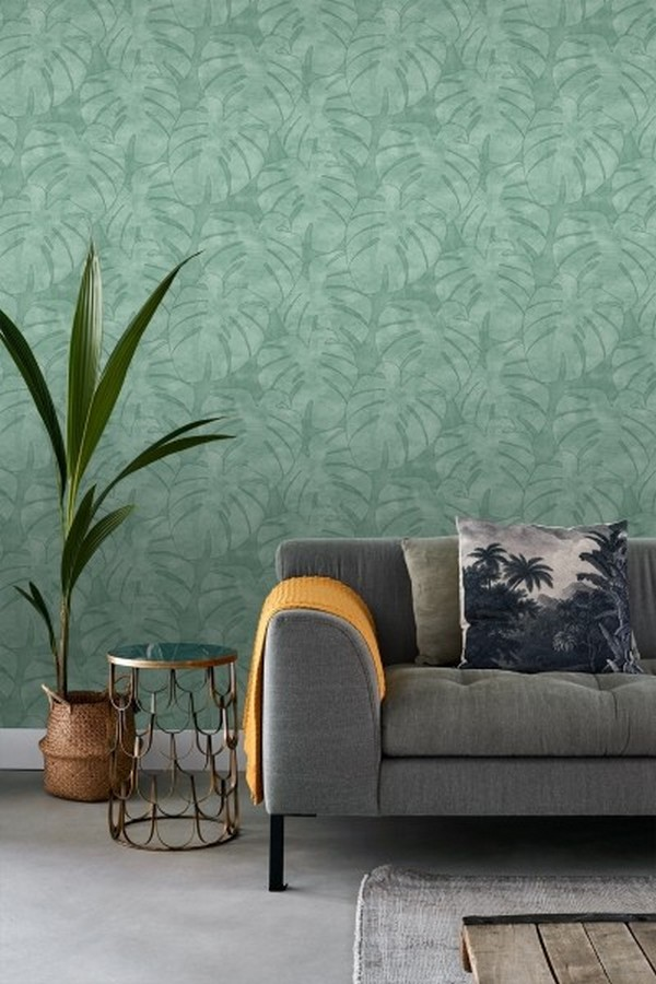 Papel pintado hojas tropicales Bora Bora 679046