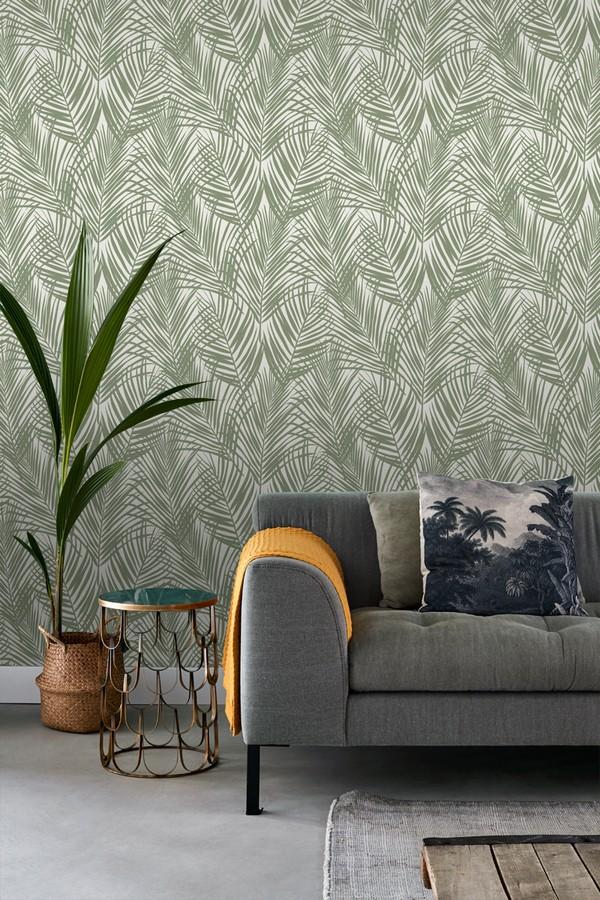 Papel pintado hojas jungla jamaicana Jamaican Jungle 679049