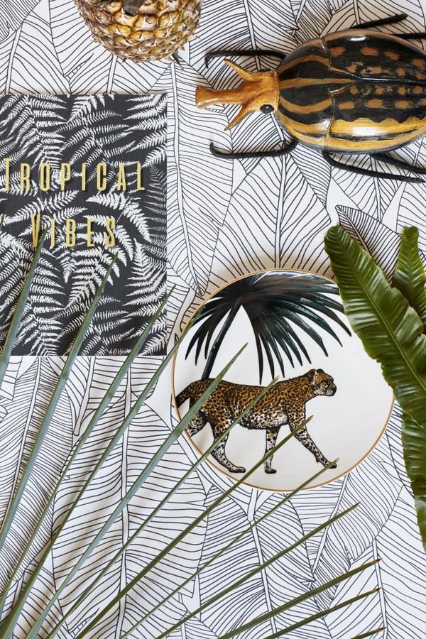 Papel pintado hojas modernas estilo tropical Manila Tropical 679054