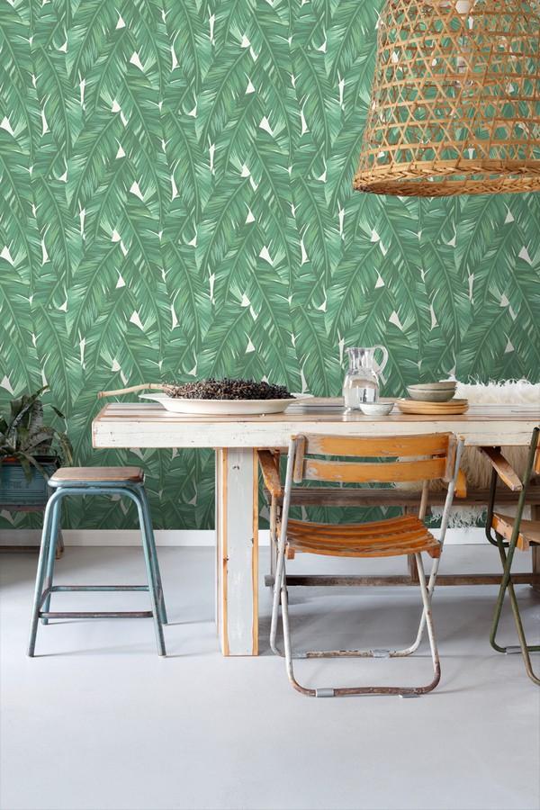 Papel pintado hojas de palmeras tropicales Summer in Beirut 679057