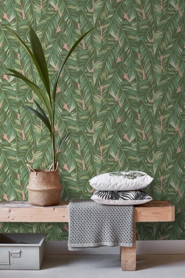 Papel pintado hojas de palmeras tropicales Summer in Beirut 679058