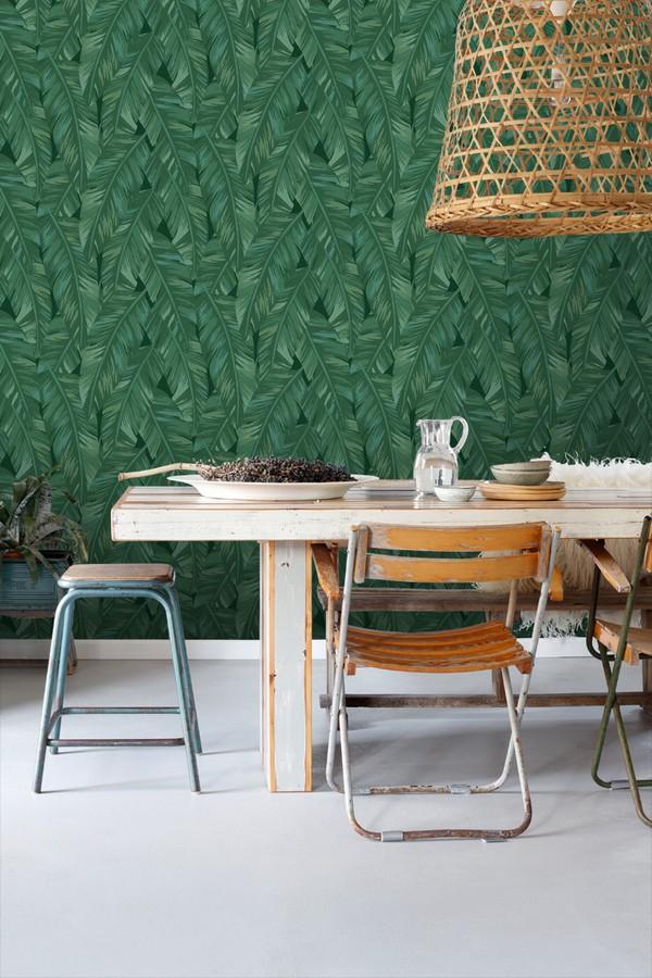 Papel pintado hojas de palmeras tropicales Summer in Beirut 679059