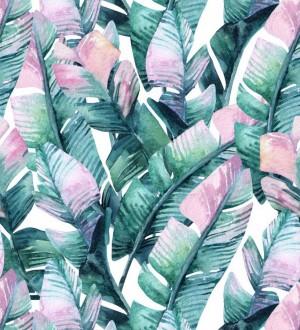 Papel pintado hojas coloridas estilo tropical Lost in Acapulco 679085