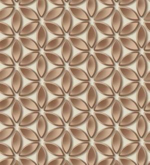 Papel pintado flores geométricas Metrical Flowers 125743