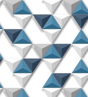 Papel pintado geométrico de triángulos 3D Axos Metrix 125749
