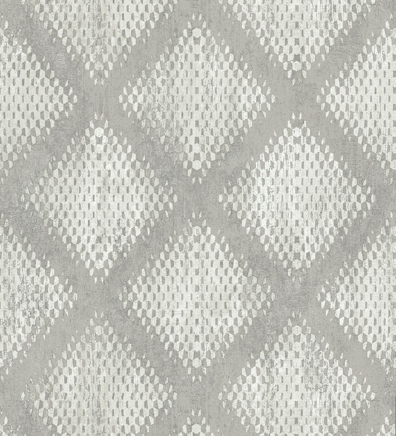 Papel pintado geométrico de rombos difuminados Mali Skin 125768