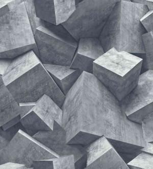 Papel pintado cubos de piedra Diagon 3D 125798