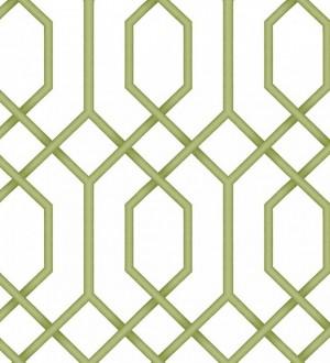 Papel pintado celosía geométrica verde estilo moderno Hexagon Modern 125833
