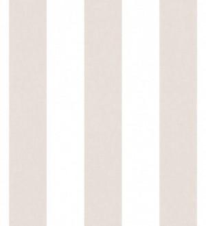 Papel pintado rayas blanco y rosa empolvado Raya Shannon 125868