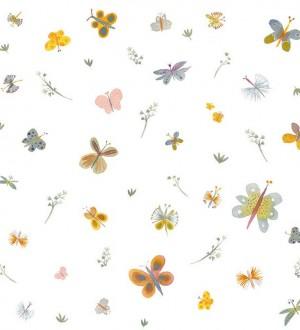 Papel pintado de mariposas pequeñas Honey Butterflies 125906