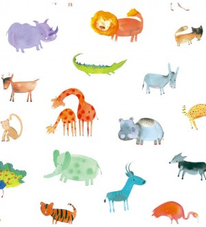 Papel pintado infantil animales del zoo Animals Zoo 125921