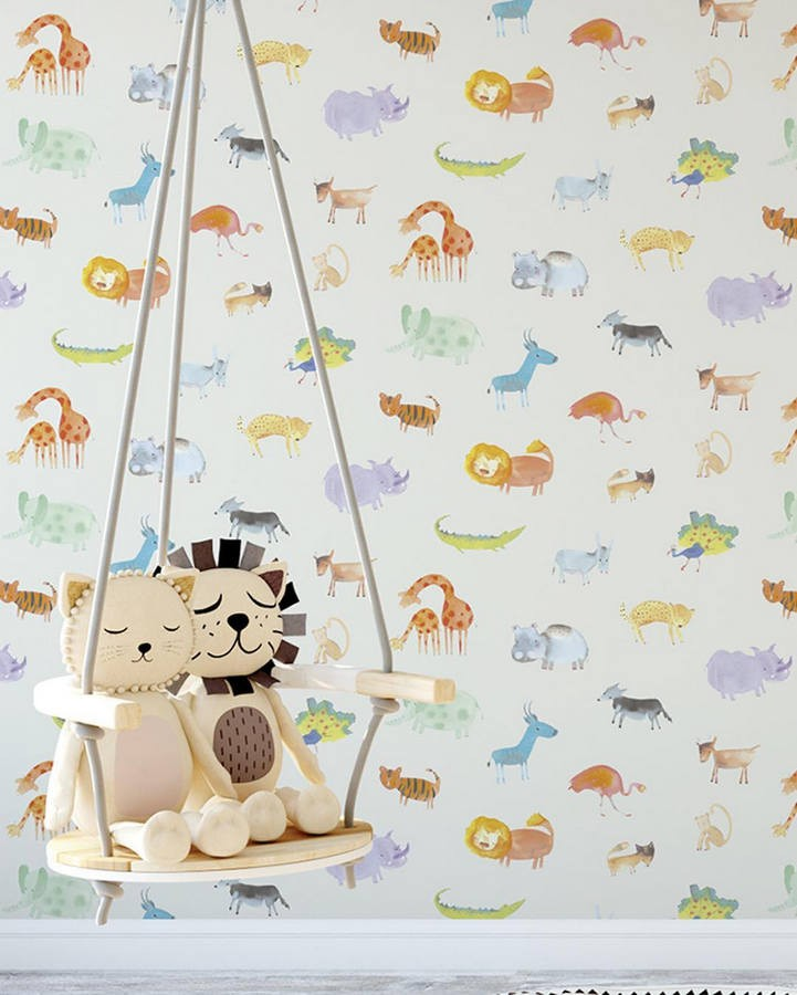 Papel pintado infantil animales del zoo Animals Zoo 125922