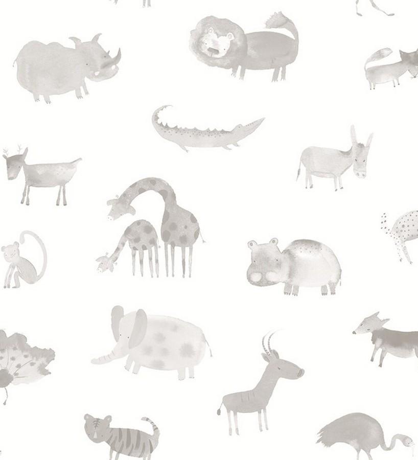 Papel pintado infantil animales del zoo Animals Zoo 125923