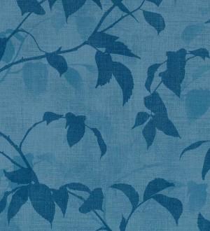 Papel pintado hojas tonos azules Baltic Gardens 126026