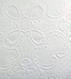 Papel pintado blanco repintable texturizado de alto relieve Dank Texture 123149