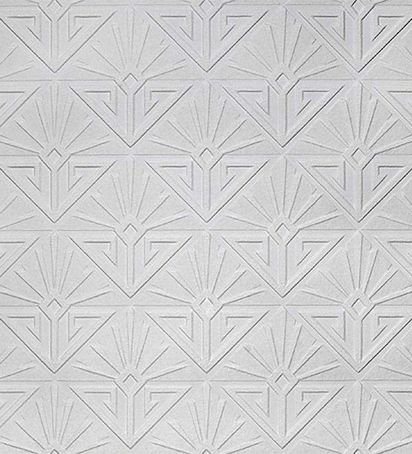 Papel pintado blanco geométrico moderno repintable texturizado de alto relieve Eines Texture 123179
