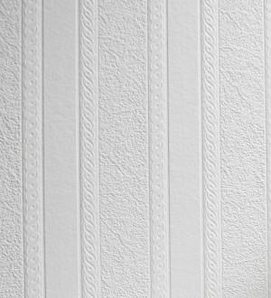 Papel pintado rayas blancas desiguales repintable texturizado de alto relieve Inverse Texture 123183