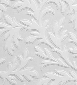 Papel pintado blanco repintable volutas de alto relieve Ornam Texture 123184