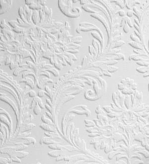 Papel pintado blanco repintable texturizado de alto relieve Cosy Texture 123185
