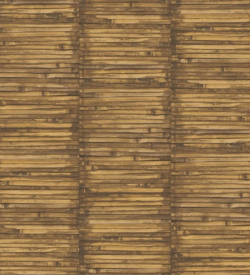 Papel pintado piezas estrechas de madera tonos tierra Coimbra Wood 124150