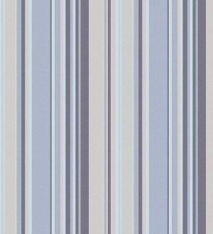 Papel pintado rayas desiguales tonos azules y grises Walter Stripes 124170