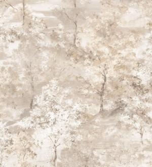 Papel pintado árboles de acuarela en tonos beige Norman Forest 124192