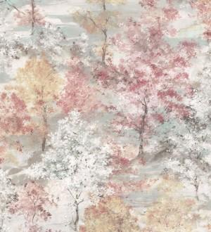 Papel pintado árboles de acuarela Norman Forest 124195
