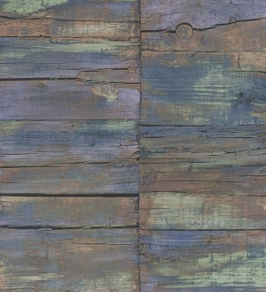 Papel pintado listones desiguales de madera desgastada Oporto Wood 124388