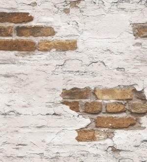 Papel pintado muro de ladrillo blanco desgastado Morris Street 124398