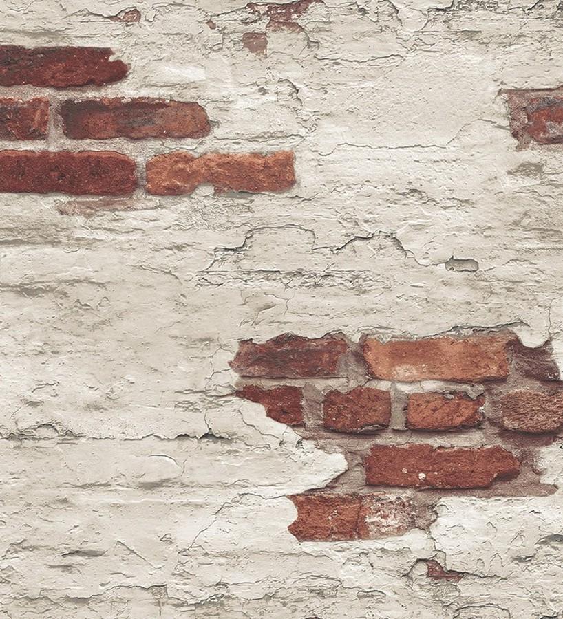 Papel pintado muro de ladrillo desgastado Morris Street 124400